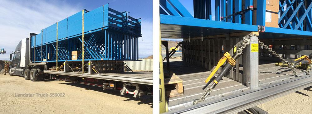 Landstar Truck 556022 Team Conestoga Step Deck